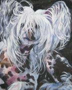 Hairless Paintings - Chinese Crested  by L A Shepard