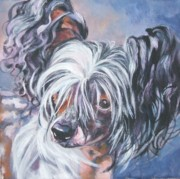 Chinese Portrait Framed Prints - Chinese Crested Framed Print by Lee Ann Shepard
