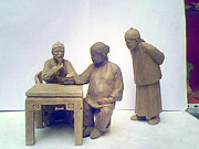 Landscapes Sculptures - Chinese Doctor by Lihuabing Lihuabing