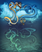 3d Graphic Digital Art - Chinese Dragon Dance by Jutta Maria Pusl
