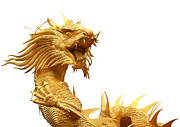 Traditional Sculpture Originals - Chinese dragon  by Phalakon Jaisangat