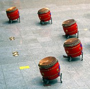 Drum Set Art - Chinese Drum Set by Yali Shi