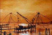 Worldwide Art Gallery Art - Chinese Fish Net by Shanju Azhikode