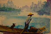 Lynn Beazley Blair - Chinese Fisherman with...
