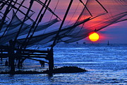 Vinod Nair Metal Prints - Chinese Fishing Nets Metal Print by Vinod Nair