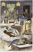 Clubhouse Framed Prints - Chinese Immigrants, 1874 Framed Print by Granger
