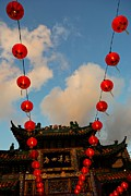 Chinese Lanterns Prints - Chinese Lanterns 2 Print by Dean Harte
