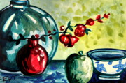 Italian Kitchen Paintings - Chinese Lanterns by Elizabeth Robinette Tyndall
