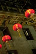 China Town Photo Metal Prints - Chinese Lanterns Metal Print by Joel P Black