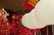Fire Crackers Prints - Chinese lanterns Print by Stephen Estell