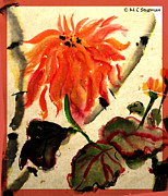 Gardener Mixed Media - Chinese Mum by M C Sturman