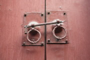 Red Doors Photos - Chinese Red Door with Lock by Carol Groenen