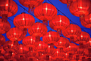 Shaanxi Province Prints - Chinese Red Lanterns Print by Pan Hong