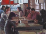 Dinner Paintings - Chinese Restaurant by David Clemons