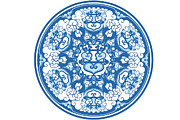 Traditional Culture Digital Art - Chinese Traditional Blue And White Porcelain Style Pattern by BJI/Blue Jean Images