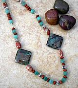 Hand Crafted Originals - Chinese Turquoise and  by Angie DElia