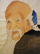Wise Old Man Paintings - Chinese Wise Man by Cris Motta