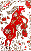 Astrology Drawings Posters - Chinese Year of the Sheep Poster by Barbara Giordano