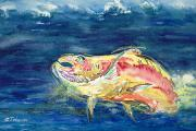 Salmon Paintings - Chinook Salmon by Tanya L Haynes - Printscapes