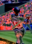 Mlb. Player Prints - Chipper Jones Print by Rod Kaye