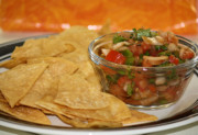 Handcrafted Metal Prints - Chips and Salsa Metal Print by Karen M Scovill