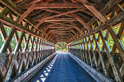 Vermont Photographs Framed Prints - Chiselville Bridge Framed Print by Guy Whiteley