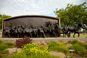 Art Marker Metal Prints - Chisholm Trail Monument Metal Print by Toni Hopper