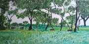 Southeast Asia Paintings - Chitwan National Forest  by Kathleen Fitzpatrick