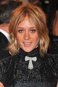 Tie Pin Framed Prints - Chloe Sevigny At Arrivals For Alexander Framed Print by Everett