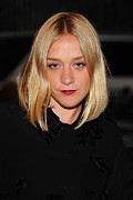 Hair Parted In The Middle Framed Prints - Chloe Sevigny In Attendance Framed Print by Everett