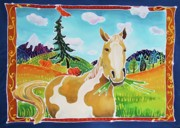 Mustang Paintings - Chloe the Wild Mustang by Harriet Peck Taylor