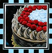 Chocolate Cake With A Cherry On Top Print by Gail Finn