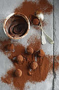 Cocoa Powder Art - Chocolate Candies Rolled In Cocoa by Cultura/BRETT STEVENS