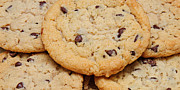 Gifts For Him Art Prints - Chocolate Chip Cookies Pano Print by Andee Photography