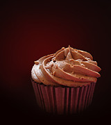 Frosting Photo Posters - Chocolate cupcake isolated Poster by Jane Rix