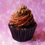 Baking Painting Posters - Chocolate Cupcake Poster by Jai Johnson