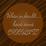 Doubt; Prints - Chocolate Print by Methune Hively