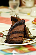 Sugar Photo Prints - Chocolate Mousse Cake Print by Carolyn Marshall