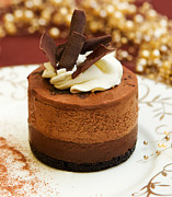 Cocoa Powder Art - Chocolate Mousse Cake by Lorraine Kourafas
