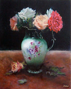 Jill Brabant - Chocolate Pot with Roses