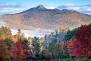 New Hampshire Lakes Framed Prints - Chocorua Fall Framed Print by Susan Cole Kelly