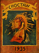 Louisiana Digital Art Framed Prints - Choctaw 1935 Framed Print by Bill Cannon