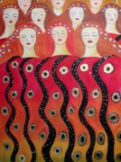 Klimt Painting Originals - Choir of Angels by Alma Yamazaki