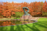 Polish Culture Prints - Chopin Monument in the Lazienki Park Print by Artur Bogacki
