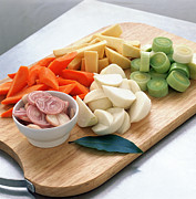 Chopped Photos - Chopped Vegetables by David Munns
