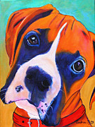 Boxer Paintings - Chopper by Andrea Folts