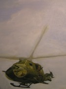 Helicopters Paintings - Chopper by Nigel Wynter