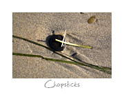 Sand Art Prints - Chopsticks Print by Peter Tellone