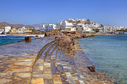 Old Town Photo Framed Prints - Chora Naxos Framed Print by Joana Kruse