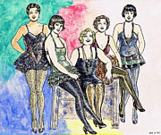 Fashion Plates Prints - Chorines Print by Mel Thompson